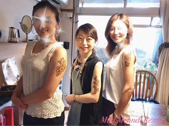 熊本でヘナアートレポート3☆熊本美人たちへ☆