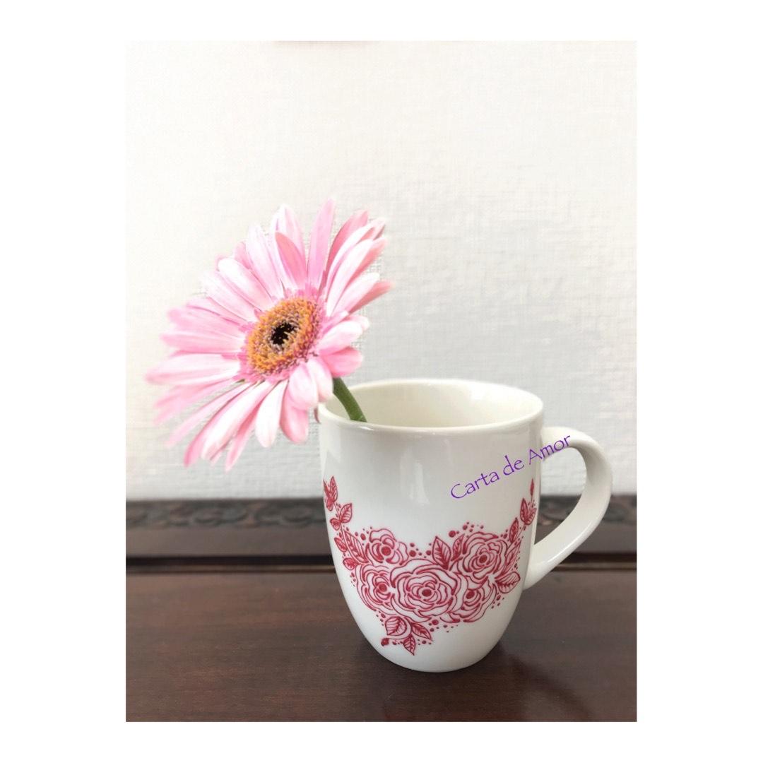 Roseシリーズ マグカップ(ピンク)